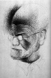 Sketch of Sigmund Freud made by Salvador Dalí