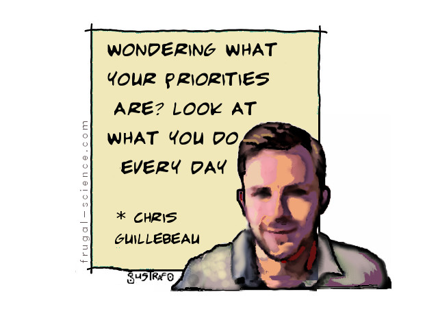chris guillebeau - priorities